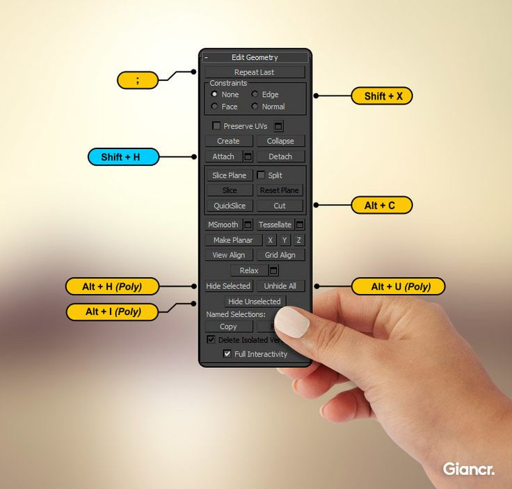 Keyboard shortcuts for 3ds Max