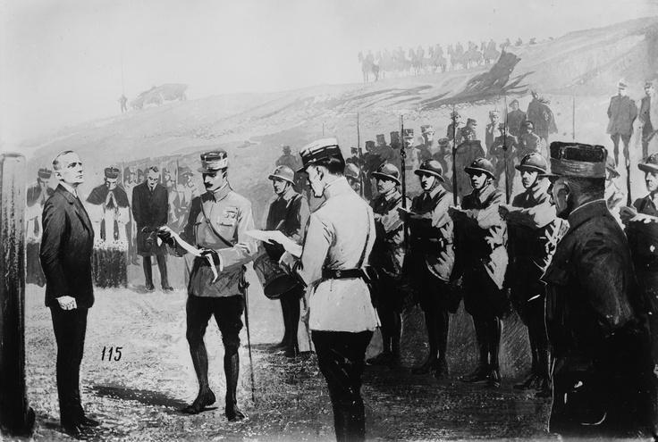 Albert Leo Schlageter se enfrenta al pelotón de fusilamiento.