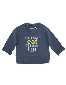 IMPS & ELFS Unisex Baby Teal 'Life is Short' Sweatshirt. Shop here: http://www.tilltwelve.com/en/eur/product/1061346/IMPS-ELFS-Unisex-Baby-Teal-Life-is-Short-Sweatshirt/