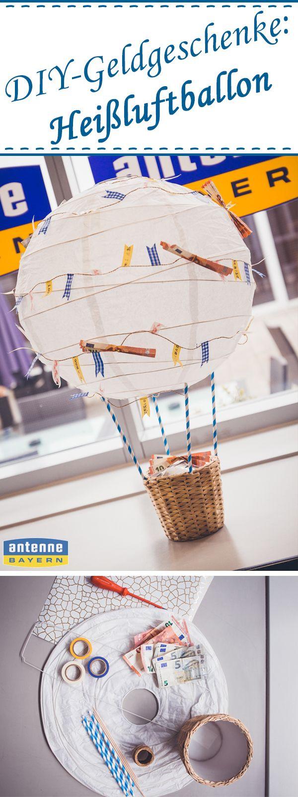 Mit diesem romatischen Heißluftballon begeistern Sie bestimmt jeden Beschenkten und die anderen Gäste werden Sie um diese Idee garantiert beneiden!