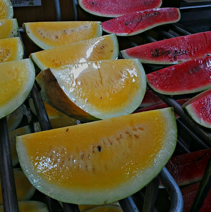 Yellow watermelons