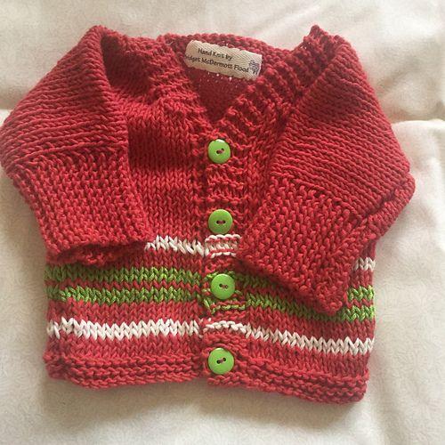 Ravelry: BridgetFlood's Easy Baby Cardigan