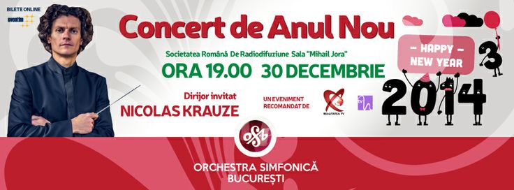 Hola, amigos! We'd love to meet you in person at the New Year's Celebration Concert of the Bucharest Symphony Orchestra. Monday December 30 @ 7pm at Societatea Română de Radiodifuziune - Sala Radio. Tickets are available on Eventim.ro - http://goo.gl/VSymW8. BSO will be the host for the last concert in 2013 and the first for 2014 in the same day! The concert will be broadcasted on the January 1st & 2nd on Realitatea.NET TV station.