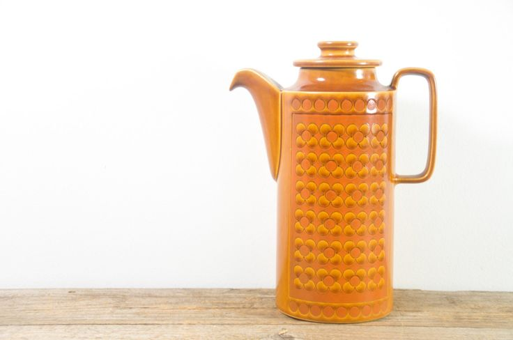 Vintage Hornsea Saffron Coffee or Tea Pot on framestr.com