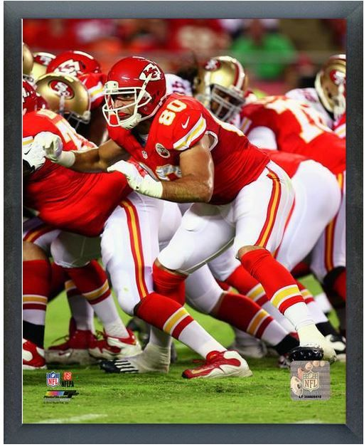 "Anthony Fasano 2013 Kansas City Chiefs- 11"" x 14"" Photo - Glassless Sports Frame"