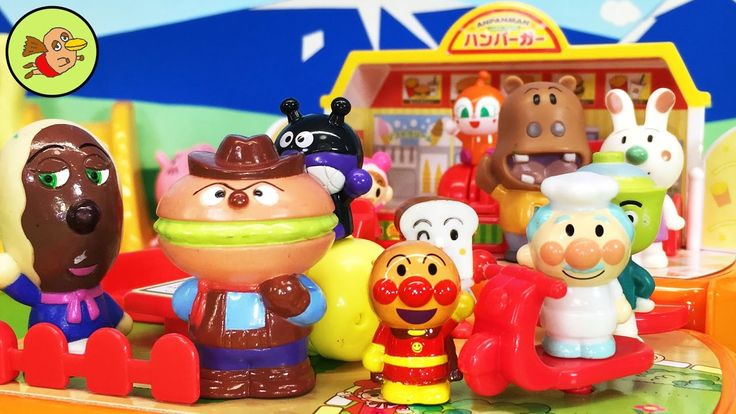 アンパンマン アニメおもちゃ アンパンマンのちいさなまち ハンバーガーショップにお友達大集合!しょくぱんまん かばおくん ぷっぷちゃん