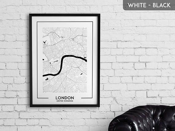 LONDON Map Print London Poster London Wall Art London City