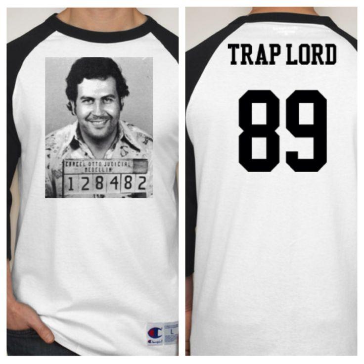 """Pablo Escobar """"Trap Lord"""" Baseball shirt."""
