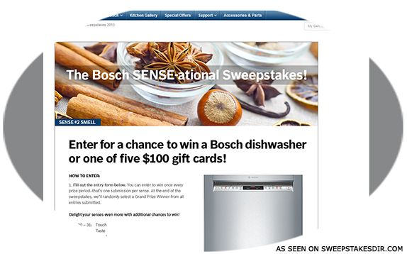 The Bosch Sense-ational Sweepstakes