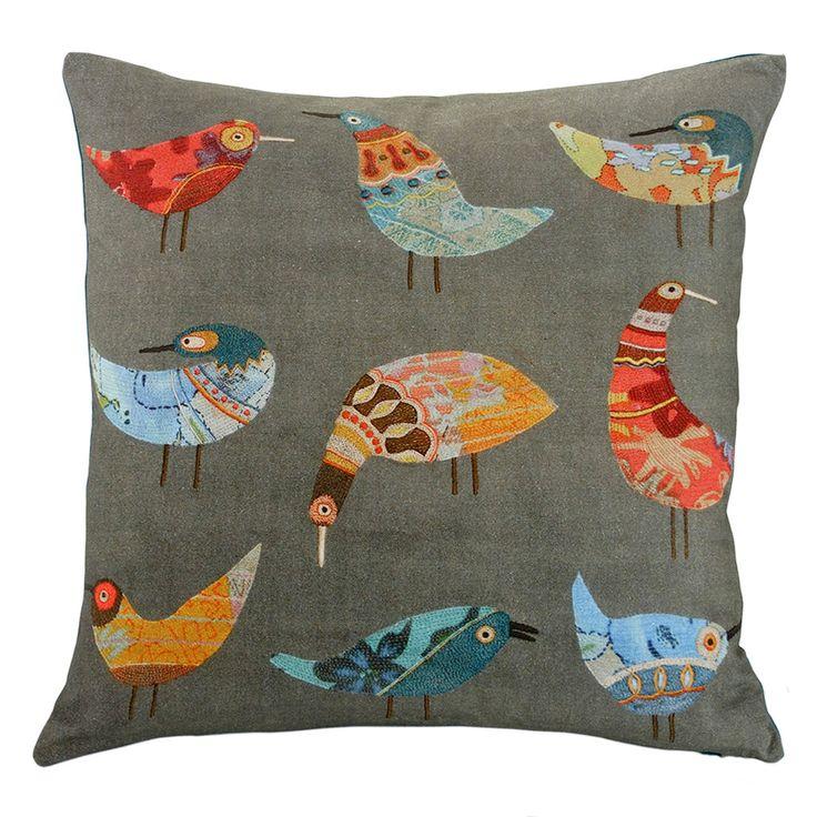 Birds Cushion – Linen & Moore