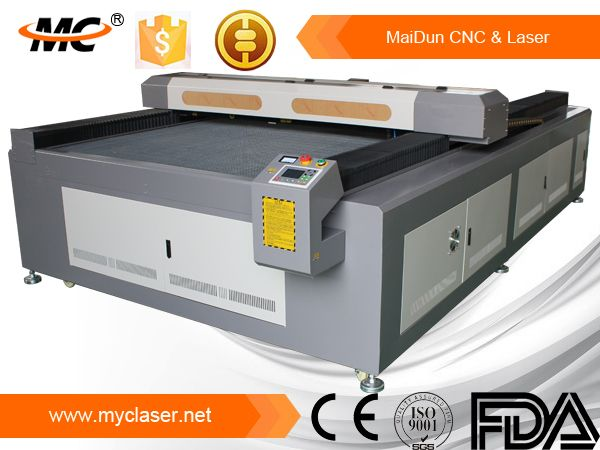 big scale laser cutting machine, could cut and engrave on plywood, die board,MDF,acrylic,rubber,leather.etc Be greatly used for art,advertisement,model,decoration and other fileds.
