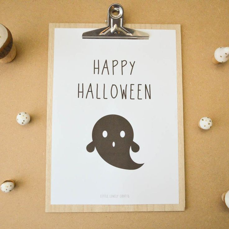 Halloween poster and postcard freebee