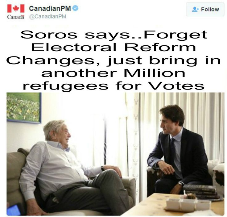 (just bring in a million refugees) Justin Trudeau gets counseling & advice from George Soros #canpoli