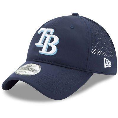Tampa Bay Rays New Era Perforated Pivot 2 9TWENTY Adjustable Hat - Navy