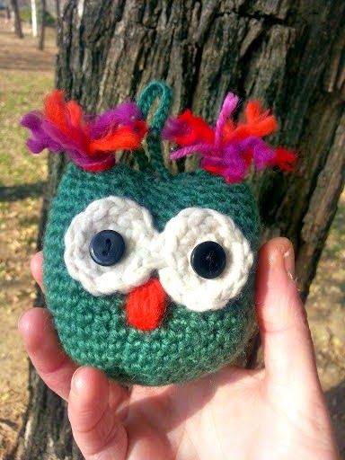Búho Amigurumi a Crochet - Patrón Gratis en Español aquí: http://laventanaazul-susana.blogspot.com.es/2015/02/140-buho-crochet.html