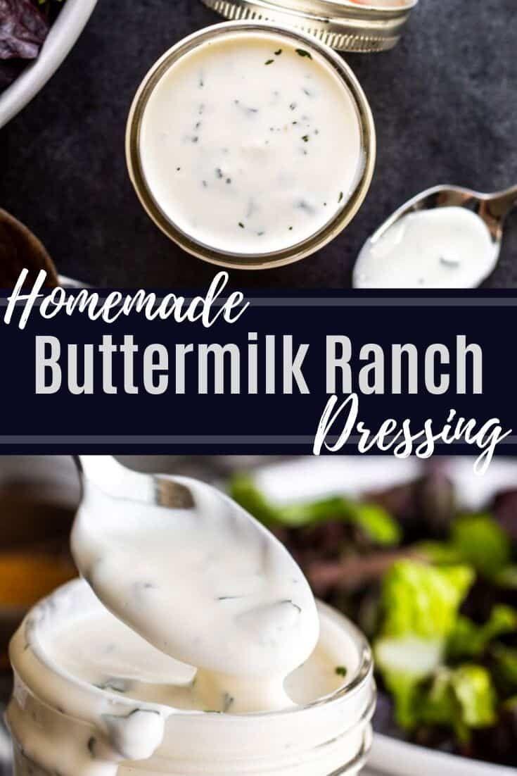 Homemade Buttermilk Ranch Dressing Recipe Recipe In 2020 Homemade Ranch Dressing Buttermilk Homemade Buttermilk Buttermilk Ranch Dressing