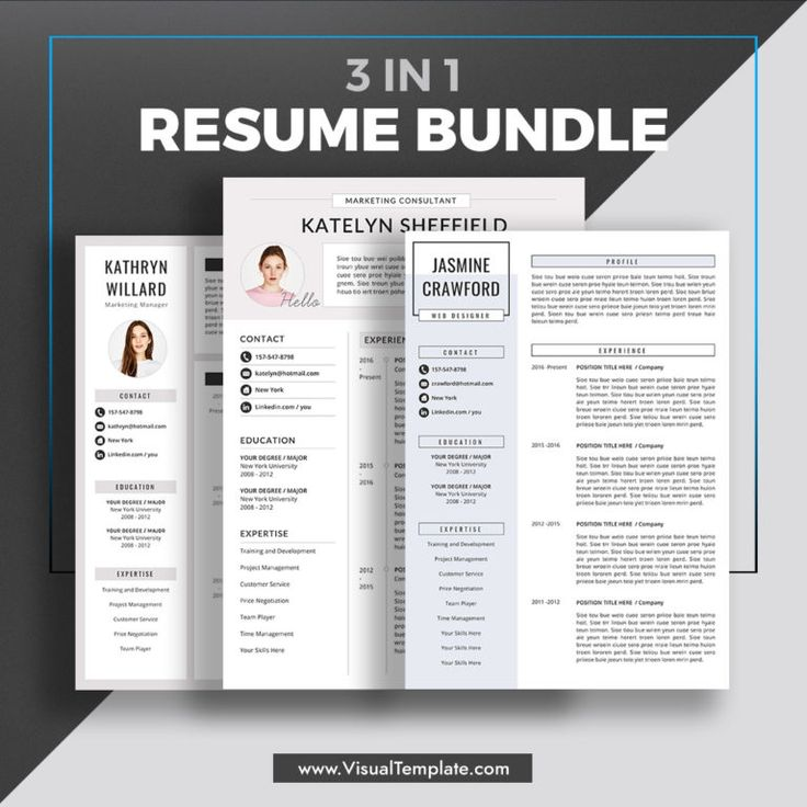 20202021 PreFormatted Resume Bundle with Resume Icons