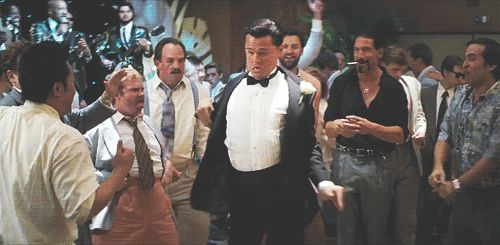 | Gotta See it GIF of the Day: Leonardo DiCaprio Shows Off Major Dance Moves in 'The Wolf of Wall Street'
