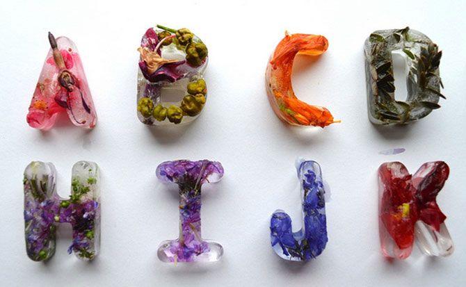 Цветочные кубики льда: оригинальный алфавит от Петры Благовой