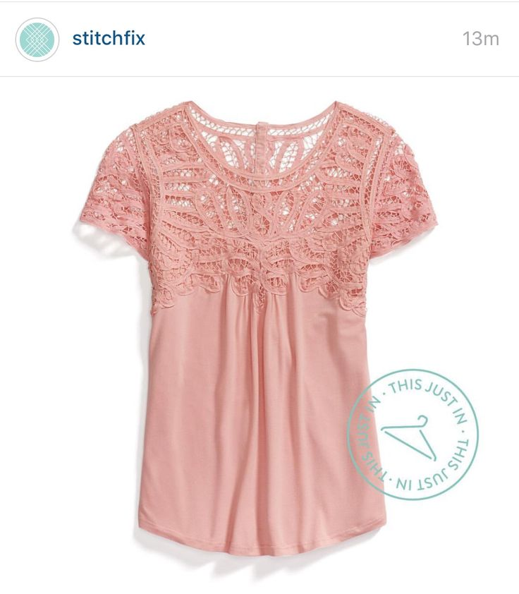 Very cute top with lace detail.. want one in darker color.. pink is too romantic :)