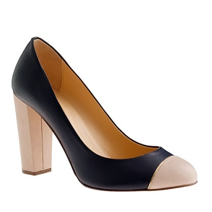 Navy/nude pumps. Cute and so comfy.