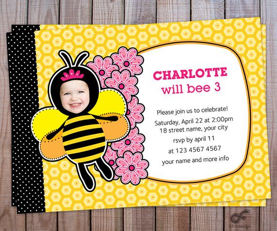 Birthday Party Invitation Photo Personalized by CFinDesign on Etsy