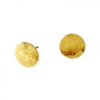 """Die Ohrstecker """"Mond"""" aus vergoldetem Schmuckmessing sind hochwertige Accessoires des Berliner Labels Klara Schmuck."""