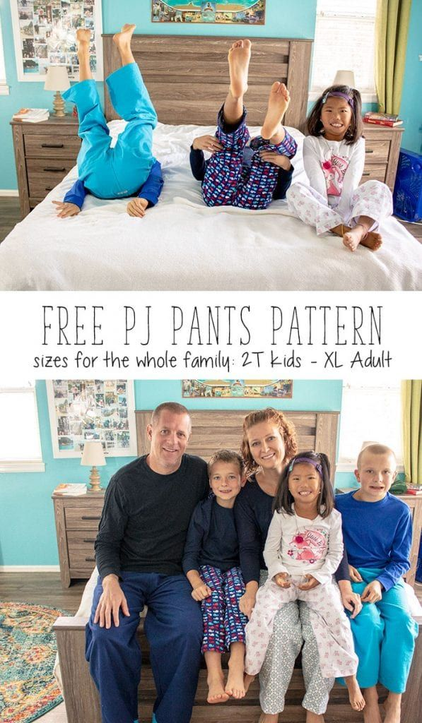 c645e7dbd0 Free sewing pattern  Pajama pants for the entire family