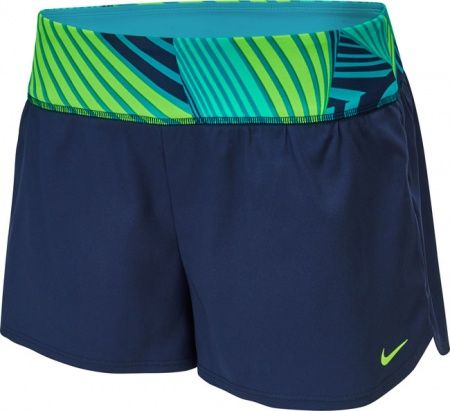 The Nike Echo Women's Swim Boardshorts with knit waistbad and powernet feature a knit liner for coverage in and out of the water.