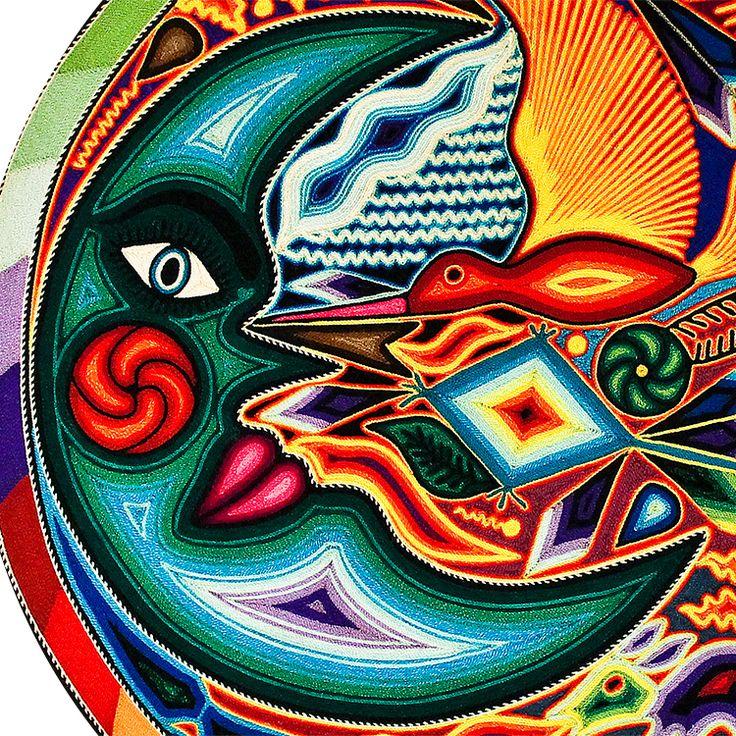 Huichol Yarn Art Collection - Huichol Yarn Painting - YP750