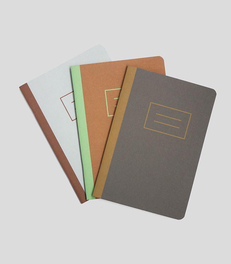 Notesy basic - zestaw ręcznie robionych notesów