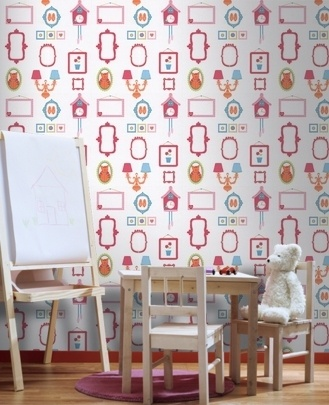 Wall Candy - Frames - Pink/White  Again, it's completely interactive, but girly!