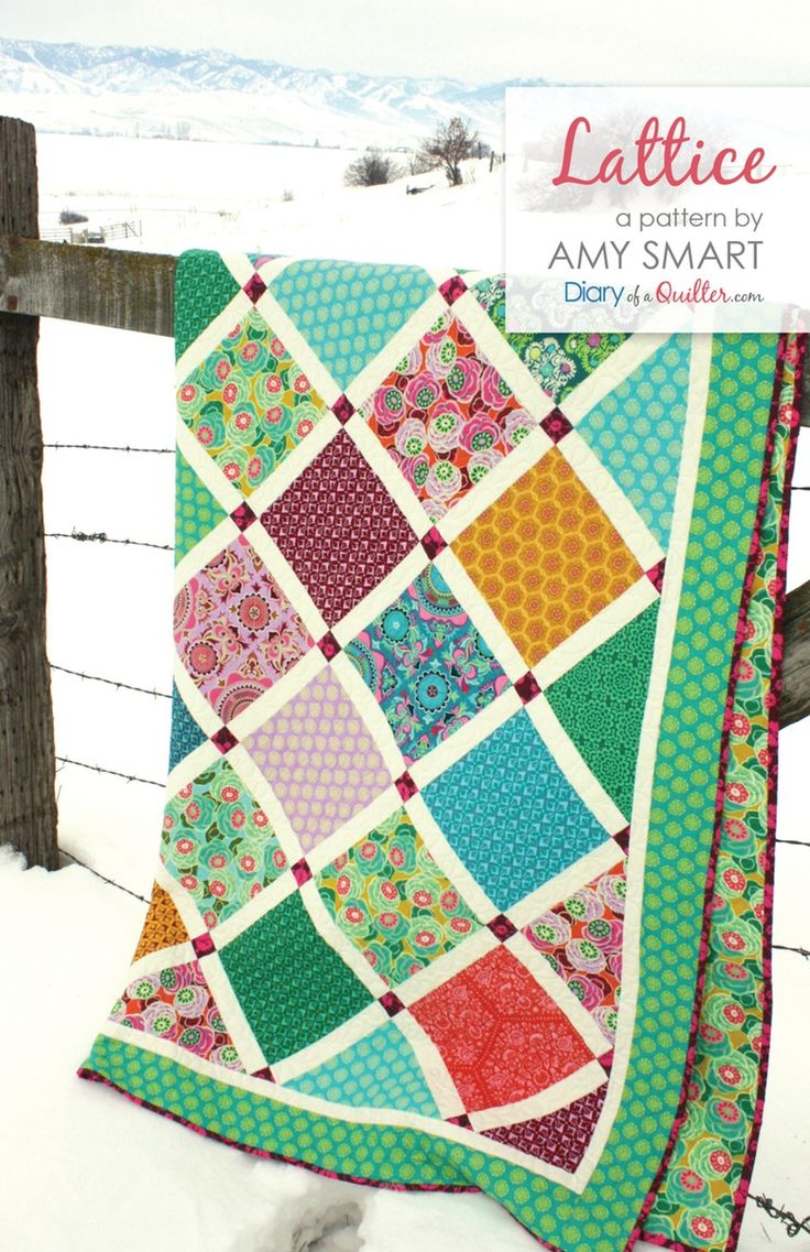 Lattice quilt pattern pdf by amy smart layer cake pre for Lattice prevulcanizzato