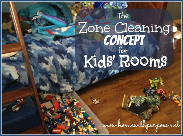 The Zone Cleaning Concept for Kids' Rooms - Home With Purpose