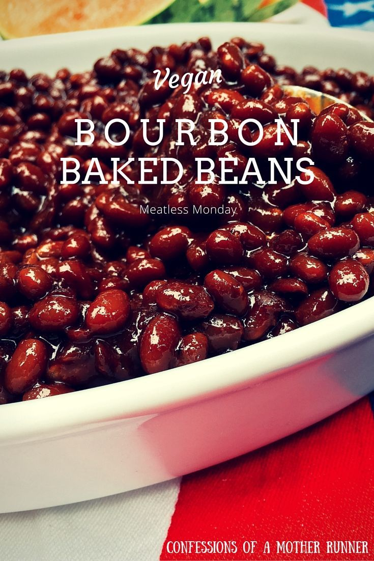 The best baked beans you've ever had! Your house will smell delish all day long while these simmer in your crock pot. Vegan Bourbon Baked Beans are perfect for your Summer BBQ