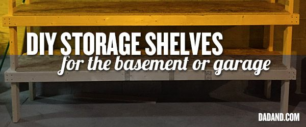 Pete build the ultimate DIY basement storage shelves for around $80 and minimal cuts. OK, they could be DIY garage storage shelves too.