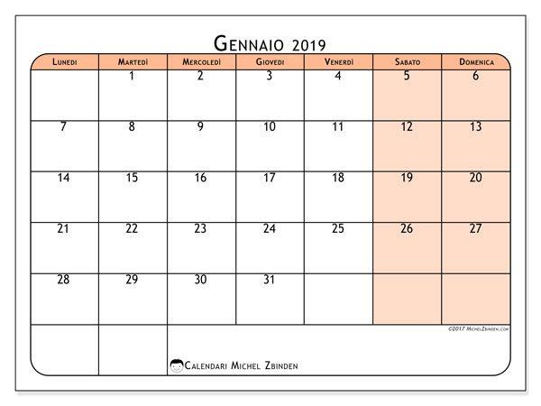 Calendario Appunti Da Stampare.Calendari Da Stampare Calendario Calendario Stampabile