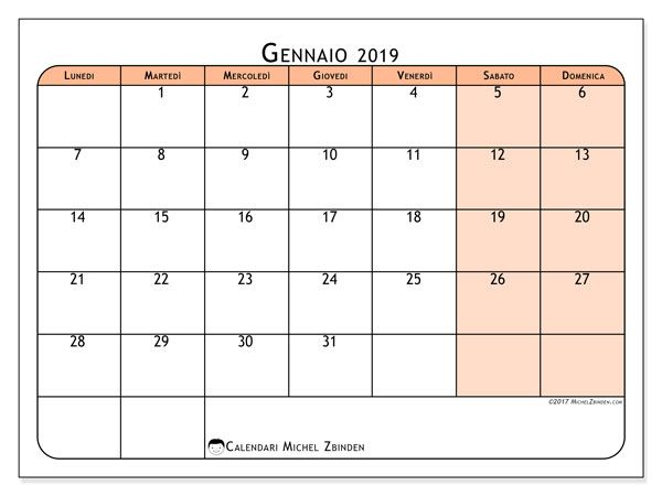 Calendario Annuale Da Stampare 2019.Calendari Da Stampare Calendario Calendario Stampabile
