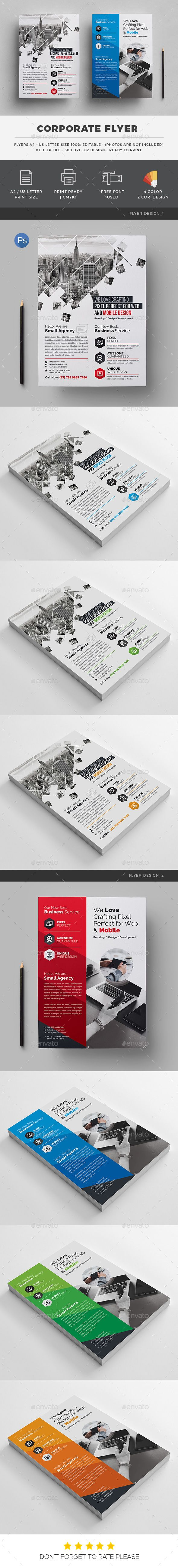 Corporate Flyer — Photoshop PSD #official flyer #web flyer • Available here → https://graphicriver.net/item/corporate-flyer/19932088?ref=pxcr