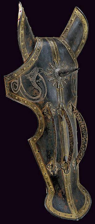 Testera de caballo indo-persa - Siglo XIX