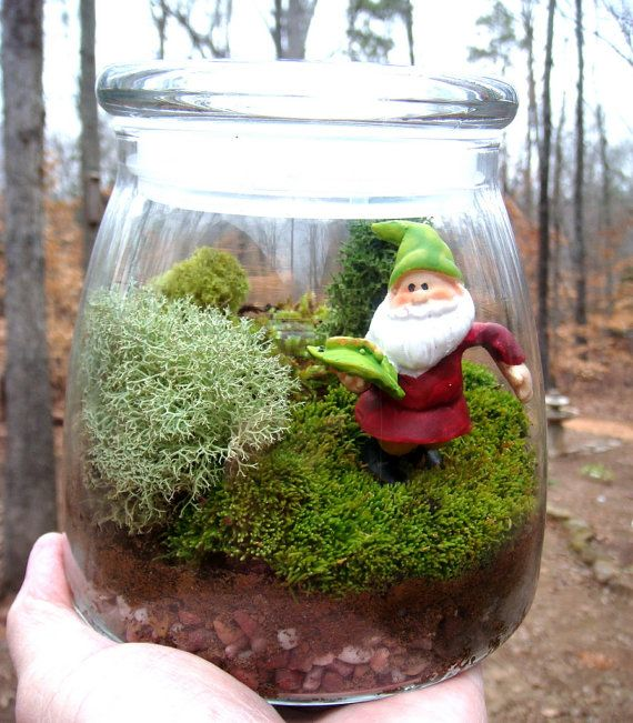 how to use fake moss in terrarium