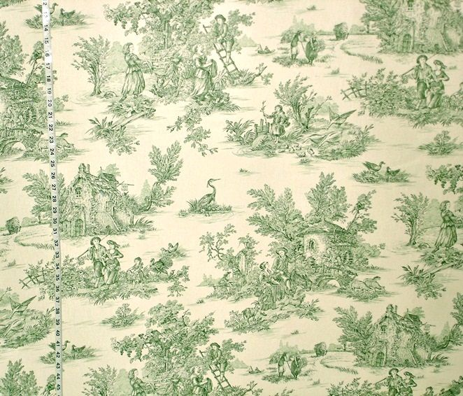 green toile fabric french country double wide from brick house fabric novelty fabric