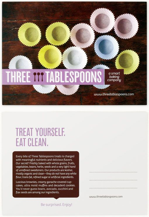 Three Tablespoons Branding: Design Collection, Designweb Design, Design Ideas, Three Tablespoon, Postcards Layout, Business Email, Amazing Web, Tablespoon Branding, Email Design