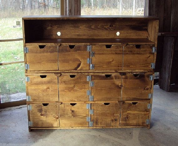 "TV Cabinet 48"" wide X 44"" tall  Reclaimed TV Console Old Barn Wood Look Entertainment Center bookcase Primitive Storage Bench Buffet Dresser..."