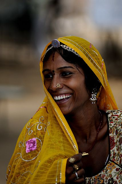 """India - Rajasthan, Indian girl with the sari, """"What is love?"""" by M Majakovskij on Flickr."""