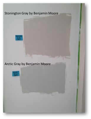 Stonington Gray By Benjamin Moore And Arctic Gray By