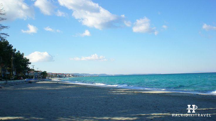 #Pefkochori #beach in #Halkidiki. Visit www.halkidikitravel.com for more info. #HalkidikiTravel #travel #Greece