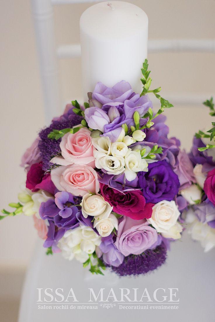 lumanari de nunta mov