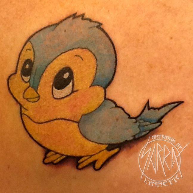 disney+blue+bird+tattoo | Disney Snow White blue bird tattoo by Sarra Lynnette