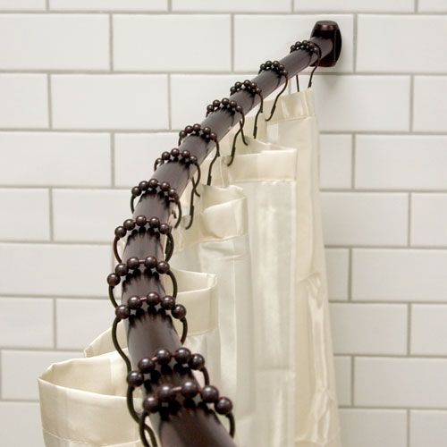 Find This Pin And More On Curtain Bars All Types By Luxuriahardware. ***  Curved Shower Curtain Rod ...
